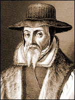 John Foxe, author of Acts and Monuments (abridged and expanded versions are known as Foxes Book of Martyrs)