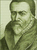 Portrait of William Tyndale, English Reformer, Bible Translator, Apologist and Martyr by burning at the stake 1536