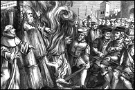 Burning of Thomas Cranmer, Archbishop of Canterbury, Reformer, and Protestant Martyr, 1556ad.