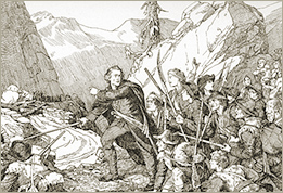Illustration of The Battle on the Bridge of Salabertrand