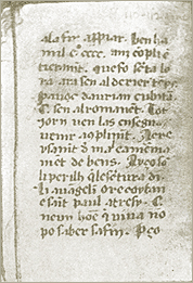 A page of the Cambridge Manuscript of the Vaudois