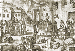 Illustration of the Pillage of Torre Pellice