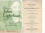 READ ONLINE: The Whole Works of the Late Rev. John Lightfoot, D. D. Master of Catharine Hall, Cambridge (1825 Edition, 13Volumes)