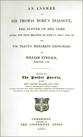 An Answer to Sir Thomas More's Dialogue by William Tyndale