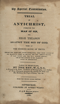 Title page of the Trial of Antichrist by Reverend W. L. S. G.